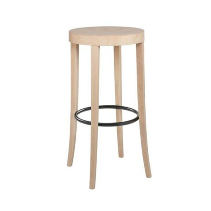 bacco stool with wooden seat