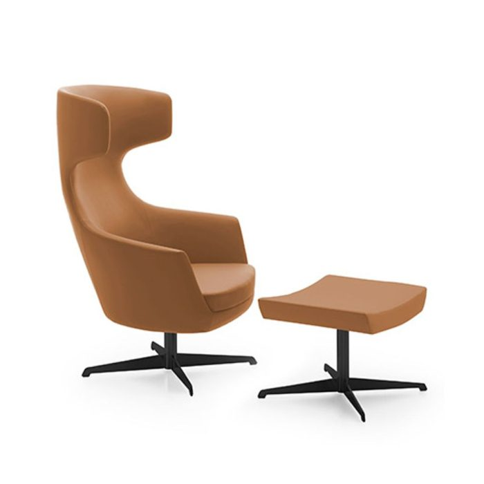 image of megan lounge armchair with matching footstool