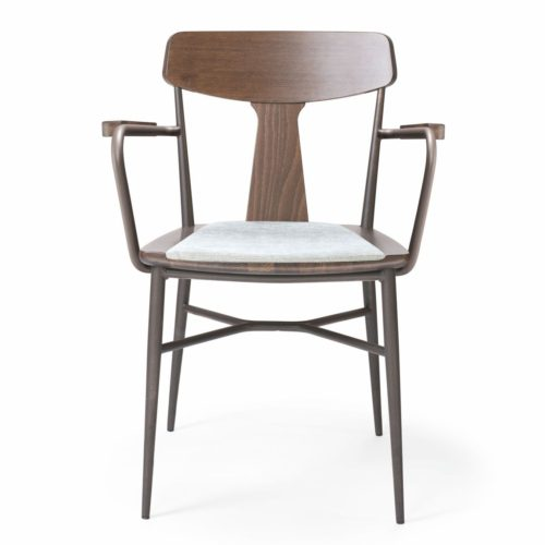front view of the naika armchair