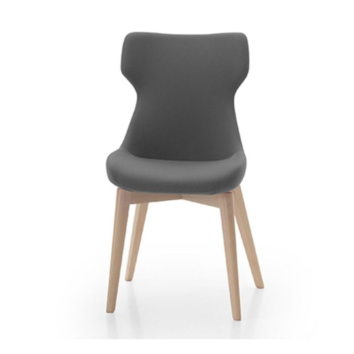 nell chair with wooden base suitable for the contract environment