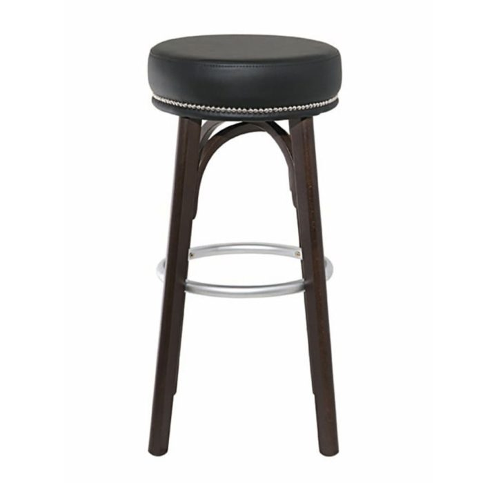 side view of bacco barstool with thick seat pad