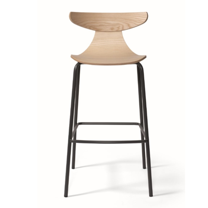 ROMY BAR STOOL WITH WOODEN SHELL
