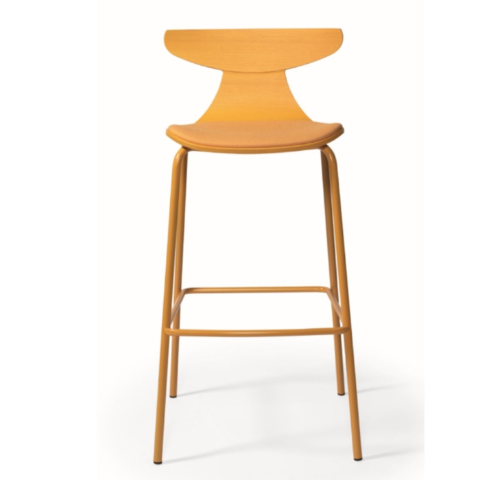romy bar stool with upholstered seat pad