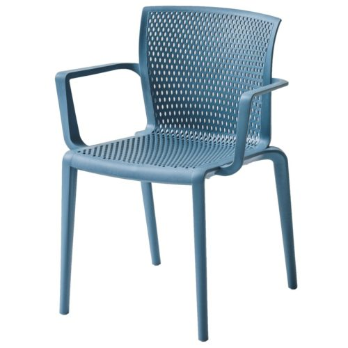 SPYKER ARMCHAIR IN A BLUE POLYPROPYLENE FINISH SUITABLE FOR OUTDOOR USE