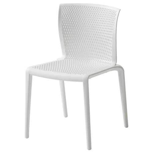 outdoor spyker chair in white polypropylene finish