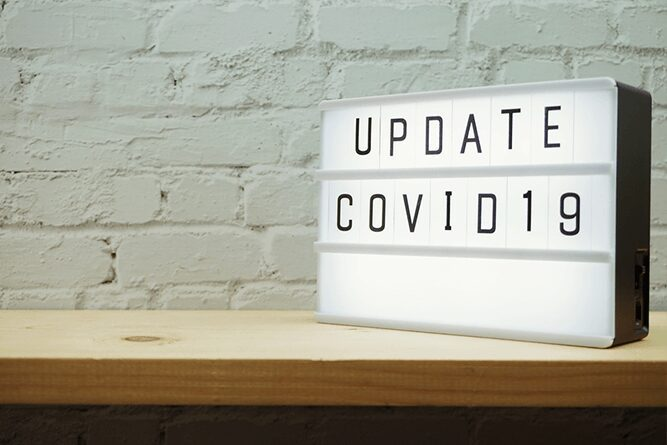 Light box letters on table update covid